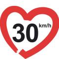 Zona 30 - Logo da campanha '30kmh – making streets liveable!' fb h