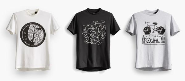 Uma dessas camisetas pode ser sua, junto com a calça Commuter!