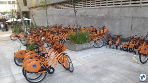 Bicicletas para empréstimo. Foto: Willian Cruz