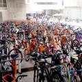 Bicicletário ficou cheio em todos os dias do evento. Foto: Willian Cruz