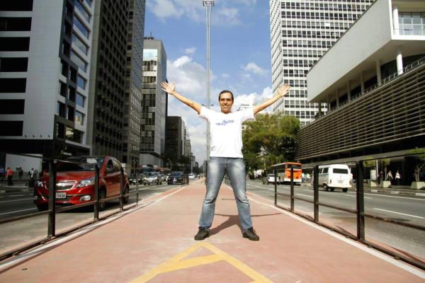 A ciclovia da Av. Paulista é uma conquista dos cidadãos. Foto: Caroline Apple