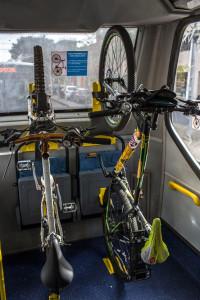 Bicicletas precisam ser acondicionadas em pé em Curitiba. Foto: Maurilio Cheli/SMCS