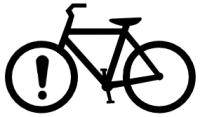 bicicleta atencao