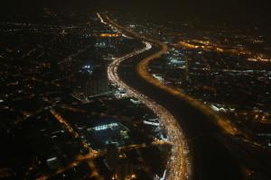 Marginal Tietê durante a noite. Foto: Paulo Pinto/Fotos Públicas