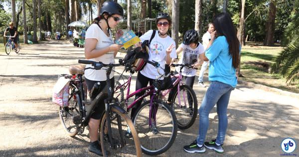 Pedalada, gincana, caça ao tesouro e oficina com crianças: último dia da Virada teve várias atividades com bicicleta, da Paulista ao Parque Ibirapuera. Foto: Fabio Miyata