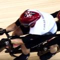 Atletas em uma tandem no ciclismo de pista. Imagem: IPC/Reprodução