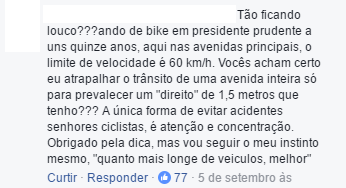 Print da página do Vá de Bike.