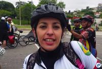 Fabiana Ribeiro, a Ciclista Formiguinha. Foto Willian Cruz
