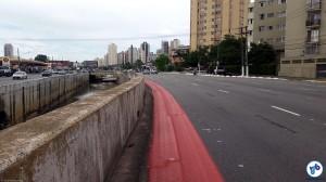 Mesmo sem retirar espaço dos carros, ciclovia foi duramente criticada e teve implantação suspensa. Foto: Willian Cruz