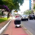 Cadeirante na ciclovia - acessibilidade - fb h - Foto Willian Cruz
