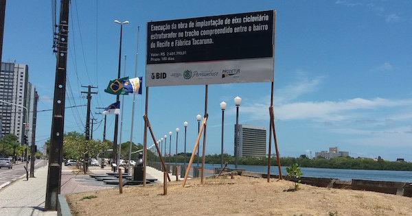 Poder público não entregou nem metade das vias cicláveis prometidas há três anos. Foto: Lucas Moraes