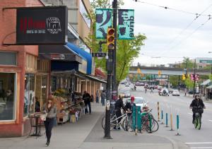 Bike corral em Vancouver (Canadá); Foto: Paul Krueger (cc)