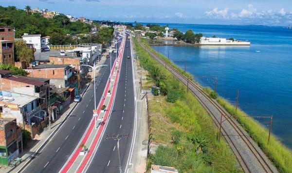 Ciclovia da Av. Suburbana. Foto: Max Haack/Agecom