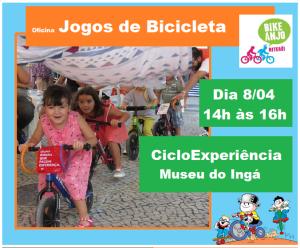 Bike Anjo Niterói também participa da Cicloexperiência 2017, com atividades tambémpara as crianças.