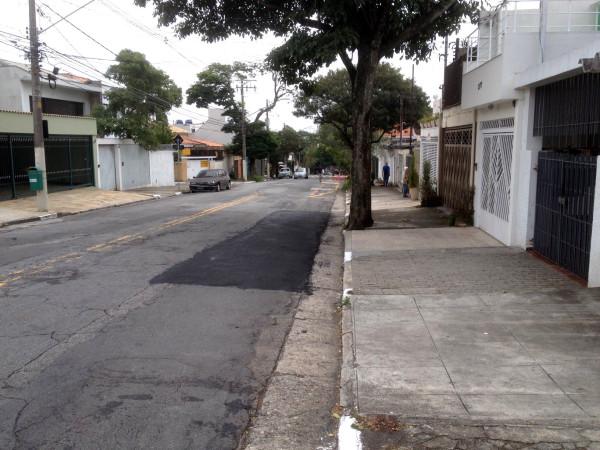 Trecho de ciclovia removido por recapeamento na Avenida Aratãs. Foto: Estevao Laurito