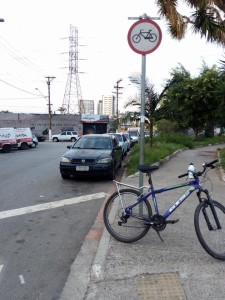 Ciclovia removida no Largo do Socorro. Foto: Bike Zona Sul