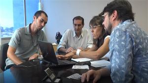 Reunião entre membros do coletivo Ciclistas de São José e o chefe de governo, Anderson Farias. Foto: Guilherme Pereira