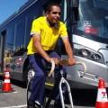 Acao com motoristas de onibus e ciclistas em Sao Paulo 01 - Foto Willian Cruz