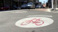 Ciclovia removida no Bom Retiro foi repintada por ciclistas.