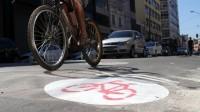 Remocao ciclovia Bom Retiro rua Silva Pinto - sinalizacao repintura popular bicicletinhas 02